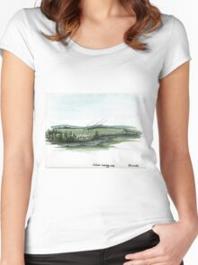 Native American Hunting Camp Women's Fitted Scoop T-Shirt
