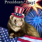 Presidents Day Ferret by jkartlife