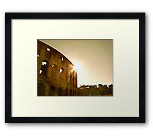 The Rising Sun Over Rome Framed Print