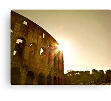 The Rising Sun Over Rome Canvas Print