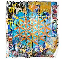 Flower Of Life - Sacred Décollage Poster