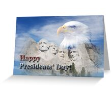 Presidents' Day Mt Rushmore Greeting Card