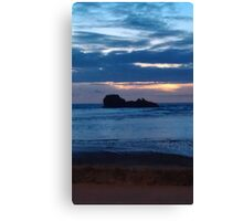 The Blue Sunset Canvas Print