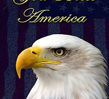 God Bless America Eagle by jkartlife