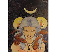 Hekate, Serpent Haired Photographic Print