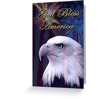 God Bless America Eagle Greeting Card