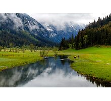 Spring meets winter in the Alps Photographic Print