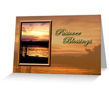 Passover Blessings Pier Greeting Card