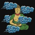 Sakyamuni Buddha In The Clouds by Sarah  Eldred