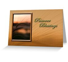 Passover Blessings Grass Sunset Greeting Card