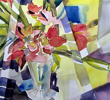 Prismatic flowers by May Hege  Rygel