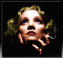 Marlene Dietrich in Oil by Richard  Gerhard