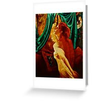 REDHEAD IN THE MIRROR Greeting Card
