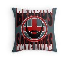 Beards Save Lives Throw Pillow