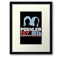 Poehler Fey 2016 funny nerd geek geeky Framed Print