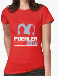 Poehler Fey 2016 funny nerd geek geeky Womens Fitted T-Shirt