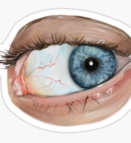 Blue Eye-V Sticker