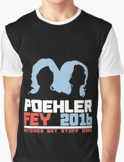 Poehler Fey 2016 funny nerd geek geeky Graphic T-Shirt