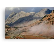 The Langdale Pikes Cumbria Canvas Print