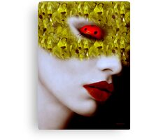 Sleeping ladybird Mask Series Canvas Print