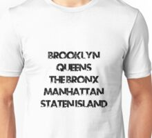New York Boroughs Unisex T-Shirt