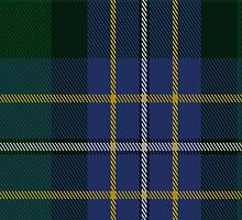 00077 Hughes Clan Tartan Fabric Print Iphone Case by Detnecs2013