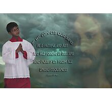 *•.¸♥♥¸.•*IF WE CONFESS BIBLICAL*•.¸♥♥¸.•* Photographic Print