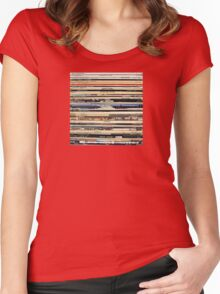 Vinyl Record Collector   Women's Fitted Scoop T-Shirt