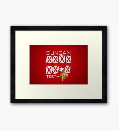 Duncan Teeth_X Framed Print