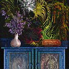still life with furniture&flowers by klaus grumbach