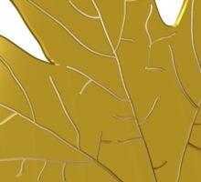 Golden maple leaf Sticker