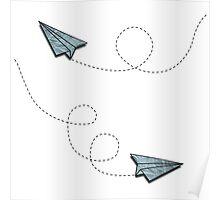 vintage paper planes Poster