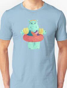 Nervous Beachy Hippo T-Shirt