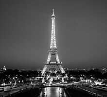 Eiffel Tower in Black & White by Andrew & Mariya  Rovenko