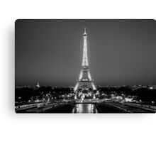 Eiffel Tower in Black & White Canvas Print