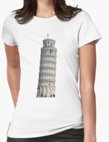 Leaning Tower of Pisa Womens Fitted T-Shirt