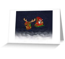 Moose and Trickster wish you a Happy Holidays! Greeting Card