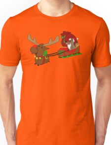 Moose and Trickster wish you a Happy Holidays! Unisex T-Shirt