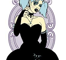 Goth Girl Pinup by CatAstrophe