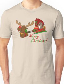 Moose and Trickster wish you a Merry Christmas! Unisex T-Shirt