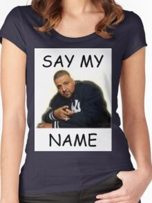 Say My Name - DJ Khaled Women's Fitted Scoop T-Shirt