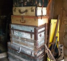 Vintage Stacked Suitcases by TCbyT