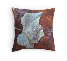 Leaf on a Table Throw Pillow