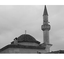 The tomb and minaret Photographic Print