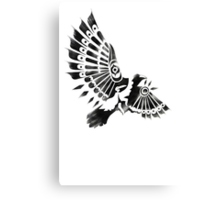 Raven Crow Shaman tribal tattoo design Canvas Print