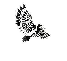 Raven Crow Shaman tribal tattoo design Photographic Print