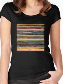 Vinyl Records Alternative Rock Women's Fitted Scoop T-Shirt