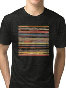 Vinyl Records Alternative Rock Tri-blend T-Shirt