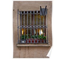 Tuscan Grilled Window Poster