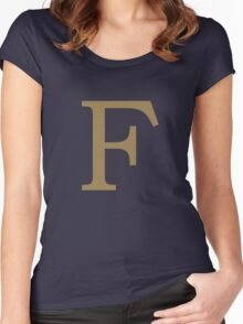 Weasley Sweater - F (All letters available!) Women's Fitted Scoop T-Shirt